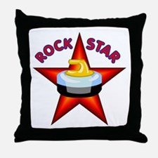 """Rock Star (Curling)"" Throw Pillow"