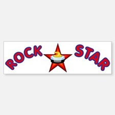 """Rock Star (Curling)"" Bumper Bumper Bumper Sticker"