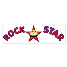 """Rock Star (Curling)"" Bumper Bumper Sticker"