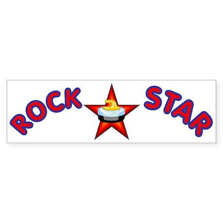 """Rock Star (Curling)"" Bumper Sticker"