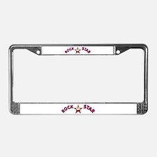 """""""Rock Star (Curling)"""" License Plate Frame"""