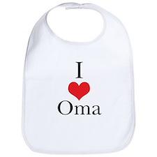 I Love (Heart) Oma Bib