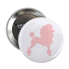 Pink Poodle Button