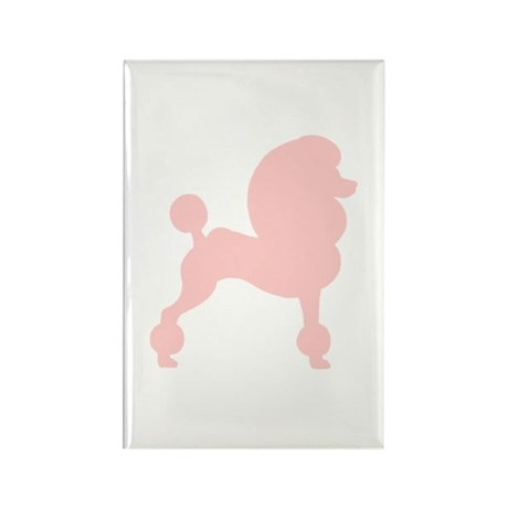 Pink Poodle Rectangle Magnet (10 pack)