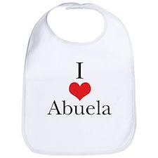 I Love (Heart) Abuela Bib
