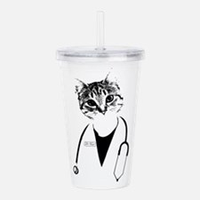 Dr. Cat Acrylic Double-wall Tumbler
