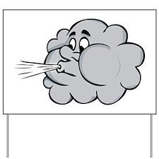 Cloud Yard Sign