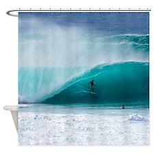 Surfer Banzai Pipeline Shower Curtain