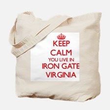 Keep calm you live in Iron Gate Virginia Tote Bag