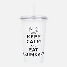 Keep Calm Eat Krumkake Acrylic Double-wall Tumbler