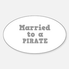Married to a Pirate Oval Decal