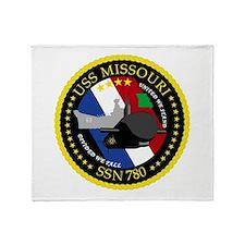 USS Missouri SSN 780 Throw Blanket