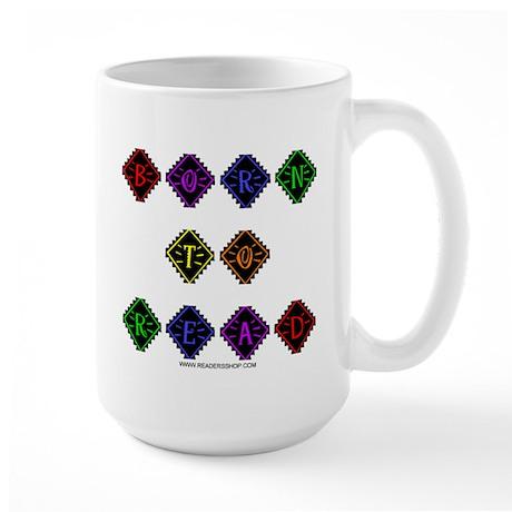 Born to Read Diamonds Large Mug
