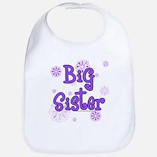 purple big sister Bib