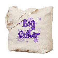 purple big sister  Tote Bag