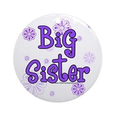 purple big sister Ornament (Round)