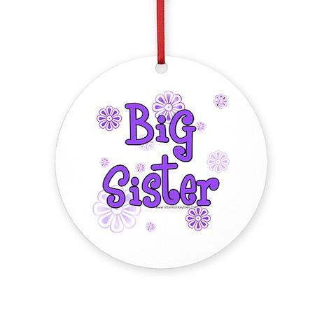 purple big sister Ornament (Round)