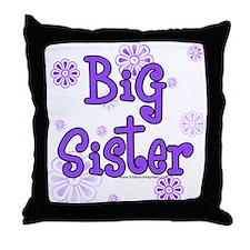 purple big sister  Throw Pillow