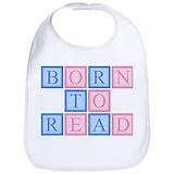 Born to read Cotton Bibs