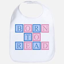 Born to Read Blocks Bib