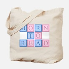 Born to Read Blocks Tote Bag