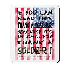 Thank Teacher & Soldier Mousepad