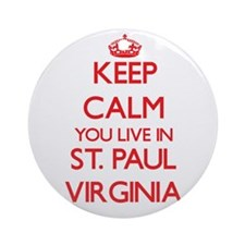 Keep calm you live in St. Paul Vi Ornament (Round)