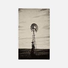 Iowa Farm Windmill Area Rug