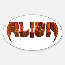 """Alien"" Rustic Oval Decal"