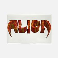 """Alien"" Rustic Rectangle Magnet"
