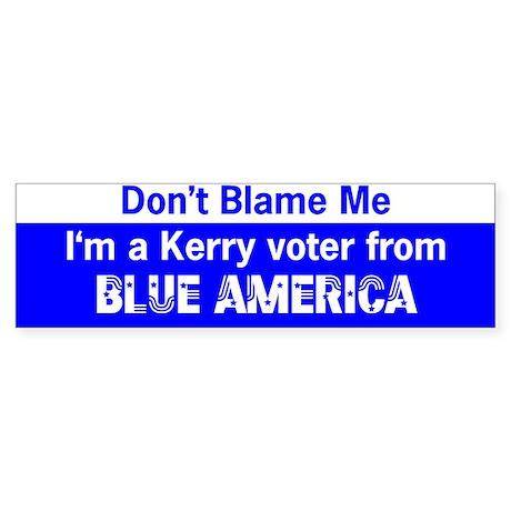 Kerry Voter from Blue America Bumper Sticker