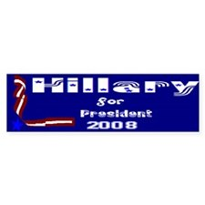 Hillary for president 2008 Bumper Bumper Sticker