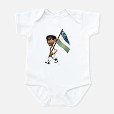 3D Uzbekistan Infant Bodysuit