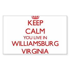 Keep calm you live in Williamsburg Virgini Decal
