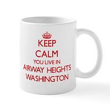 Keep calm you live in Airway Heights Washingt Mugs