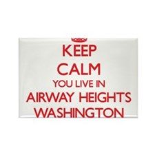 Keep calm you live in Airway Heights Washi Magnets