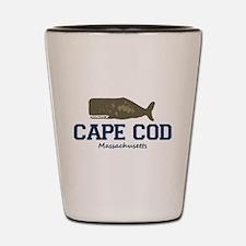 Cape Cod - Whale Design. Shot Glass