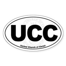UCC United Church of Christ Euro Oval Stickers