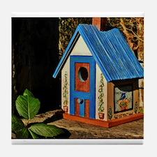 """COTTAGE BIRDHOUSE"" Tile Coaster"
