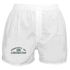 Property Of Uzbekistan Boxer Shorts
