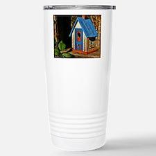"""""""COTTAGE BIRDHOUSE"""" Travel Mug"""