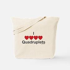 I Love Quadruplets Tote Bag