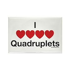 I Love Quadruplets Rectangle Magnet