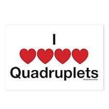 I Love Quadruplets Postcards (Package of 8)