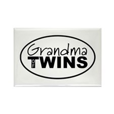 Grandma of Twins Rectangle Magnet