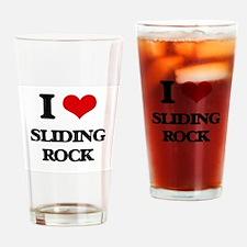 I Love Sliding Rock Drinking Glass
