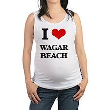 I Love Wagar Beach Maternity Tank Top