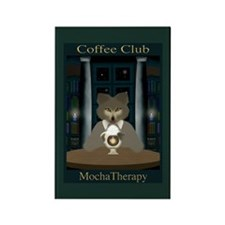 Coffee Club MochaTherapy Rectangle Magnet (green)