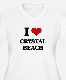 I Love Crystal Beach Plus Size T-Shirt
