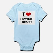 I Love Crystal Beach Body Suit